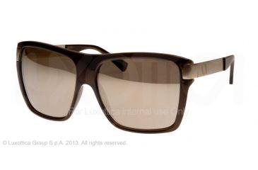 Armani Exchange AX4018 Sunglasses 80455A-59 - Deep Olive Transparent Frame, Brown Mirror Lenses