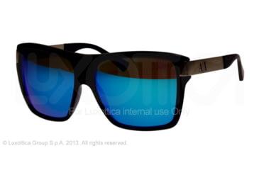Armani Exchange AX4018 Sunglasses 806433-59 - Ultramarine Transparent Frame, Light Blue Mirror Lenses