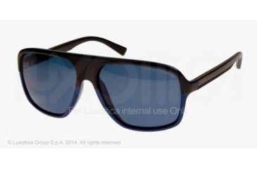Armani Exchange AX4020S Sunglasses 806972-61 - Deep Ultramarine/black Frame, Dark Blue Solid Lenses
