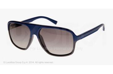 Armani Exchange AX4020S Sunglasses 807011-61 - Castle Rock/deep Ultramarine Frame, Grey Gradient Lenses