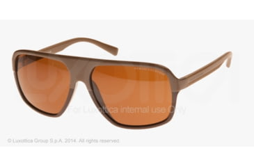Armani Exchange AX4020S Sunglasses 808673-61 - Phantom/capers Frame, Brown Solid Lenses