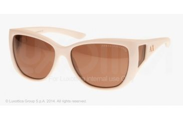 Armani Exchange AX4023S Sunglasses 803873-58 - White Frame, Brown Solid Lenses