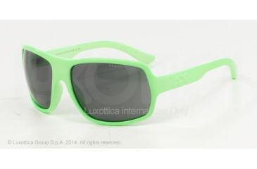 Armani Exchange AX4025S Sunglasses 811287-61 - Paradise Green Glow Frame, Grey Solid Lenses
