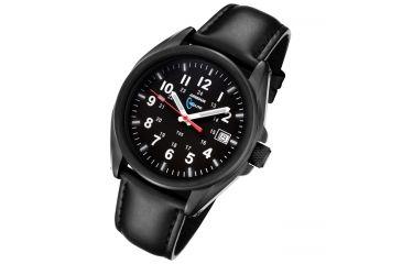 Armourlite 38mm Shatterproof Glass Swiss Tritium Watch, Black, Small AL501-BBL