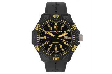Armourlite Caliber Series Yellow Watch With Rubber Band, Black/Yellow, Small AL614