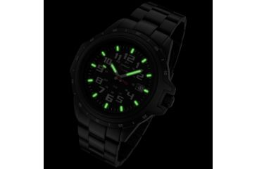 Armourlite ColorBurst Shatterproof Scratch Resistant Glass Tritium Watch, Black, White, Green, Small AL220