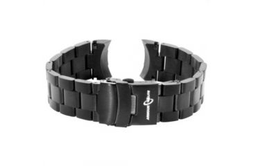 Armourlite ColorBurst Watch Band - Stainless Steel Bracelet, Black, Small AL200BLK