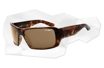 Arnette Big Deal Sunglasses - Havana Frame and Brown Polarized Lens AN4168-04