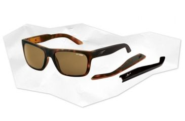 Arnette Dropout Sunglasses - Fuzzy Havana/Gloss Black Frame and Brown Lens AN4176-04