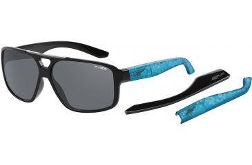 Arnette Fat City Sunglasses, Gloss Black AN4189-02