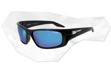 Arnette Feelgood Sunglasses - Gloss Black Frame and Polarized Grey Lens AN4162-03