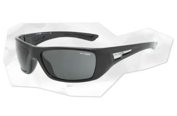 Arnette Stick Up Sunglasses - Gloss Black Frame and Grey  Lens AN4147-05