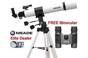 Meade 70az adr refractor telescope 70mm 04054 w tripod eyepieces