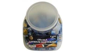 ASP Battery Case w/ 100 CR123A Batteries, Clear 81923