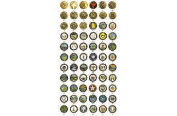 ASP State Seal Logo Grip Cap & G2 Key, Brass - Arizona 74842