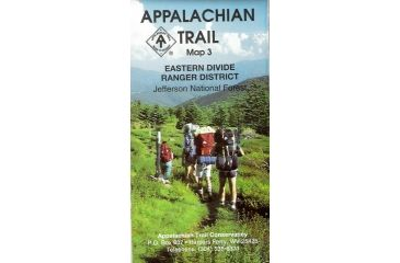 At Va Map 3 Eastern Divide, A.t.c., Publisher - Ap Trail Conservancy