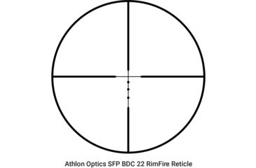 2-Athlon Optics 4-12x40 Riflescope, Capped , Side Focus, 1 inch, SFP, 22 RimFire
