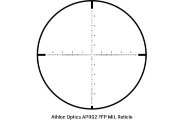 2-Athlon Optics 6-24x50 Riflescope, 30mm, Direct Dial, Side Focus, APRS2 FFP MIL Reticle