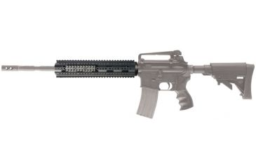 AR-15 Rifle Length Free Float Forend mounted to rifle