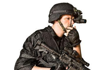 ATN Gen4 Night Vision Monocular NVM14 13185 on Helmet
