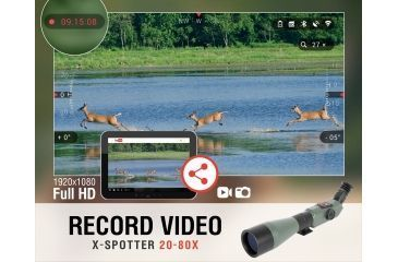 9-ATN X-Spotter HD Day/Night Smart Spotting Scope