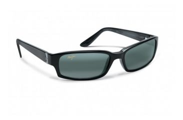Maui Jim Atoll Sunglasses w/ Gloss Black Frame and Neutral Grey Lenses - 220-02, Quarter View