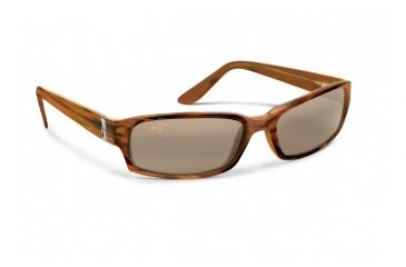 Maui Jim Atoll Sunglasses w/ Tortoise Frame and HCL Bronze Lenses - H220-10, Quarter View