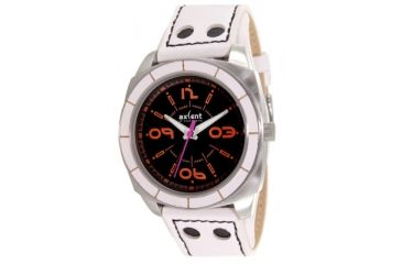 Axcent Pimp Watch, White Band, Black Face, Orange Numerals X17001-261