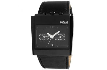 Axcent 2001 Men's Watch, Black Strap, Black Face, Luminous Hands X41001-247