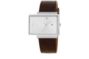 Axcent Torsby Watch, Brown Strap, White Face, Silver Hands X21711-156