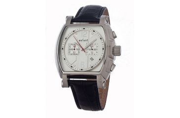 Axcent Haparanda Watch, Black Strap, Silver Face, Silver Hands X31003-667