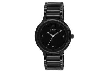 Axcent Fine Watch, Black Bracelet, Black Face, Silver Hands X4361b-232