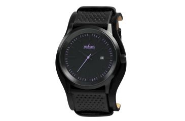 Axcent Lifetime Watch, Black Strap, Black Face, Purple Markers X45711-037
