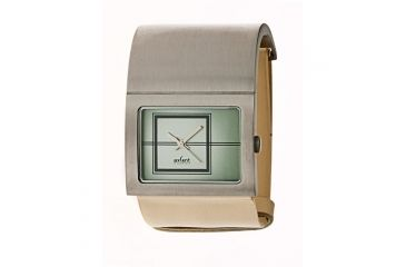 Axcent Freja Broad Watch, Cream Strap, Green Face, Silver Hands X46002-651
