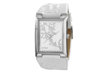 Axcent Spirit Watch, White Strap, Silver Face, Silver Hands X55924-131