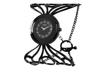 Axcent Octopuss Watch, Black Bracelet, Black Face, Silver Hands X5633b-232