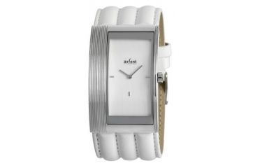 Axcent Curves Watch, White Strap, Silver Face, Silver Hands X56341-161