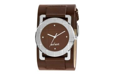 Axcent Scratch Watch, Brown Strap, Brown Face, Silver Hands X61004-746