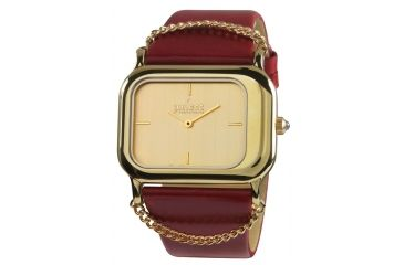 Axcent Fair Lady Watch, Red Strap, Gold Face, Gold Hands X62018-736