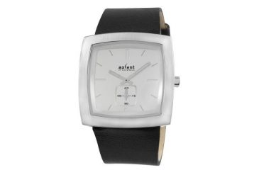 Axcent Wall Street Watch, Black Strap, White Face, Silver Hands X70121-637