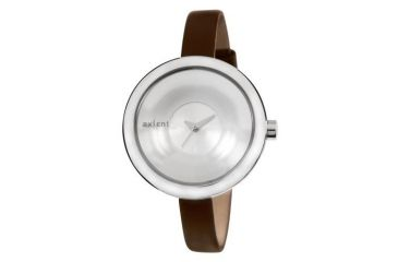Axcent Elegance Watch, Brown Strap, Silver Face, Silver Hands X70212-636