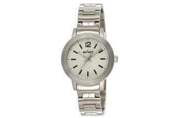 Axcent Atomic Watch, Silver Bracelet, Eggshell Face, Silver Hands X64843-162