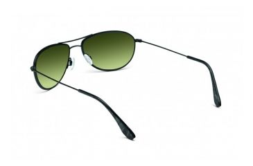 Maui Jim Baby Beach Sunglasses w/ Gloss Black Frame and Maui HT Lenses - HTS245-02, Back View