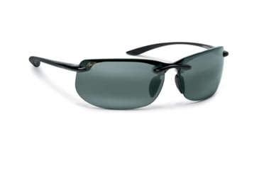 Maui Jim Banyans Sunglasses w/ Gloss Black Frame and Neutral Grey Lenses - 412-02, Quarter View