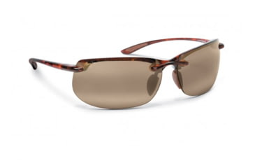 Maui Jim Banyans Sunglasses w/ Tortoise Frame and HCL Bronze Lenses - H412-10, Quarter View