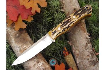 Bark River Aurora Fixed Blade Knife,4.5in,A-2 Tool Steel Blade,Antique Stag Bone Handle BA140BAS