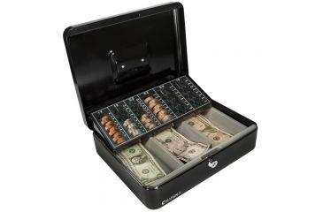 Barska 12in. Cash Box, 6 Compartment Coin Tray w/ Key CB11790