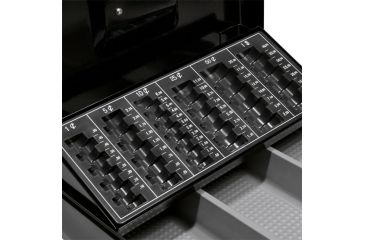 Barska 12in. Cash Box, 6 Compartment Coin Tray, Key Lock, Close Up CB11790