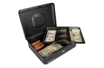 Barska 12in. Cash Box, Key Lock, Lifted Drawer CB11834.