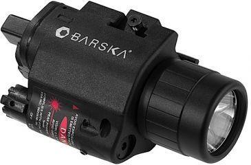 Barska AU11920 Laser 5mW Red W/Light 200 Lum On/Off Cable 2-CR123A
